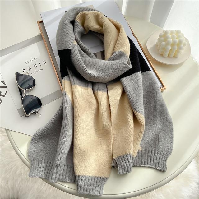 2021 вязанный длинный шарф для женщин 2