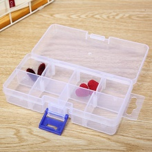 Plastic Container 8 Compartment Small Storage Box Transparent Display Earrings Jewelry Box Portable cosmetic Make up organizer new arrive hot 2pc set portable jewelry box make up organizer travel makeup cosmetic organizer container suitcase cosmetic case