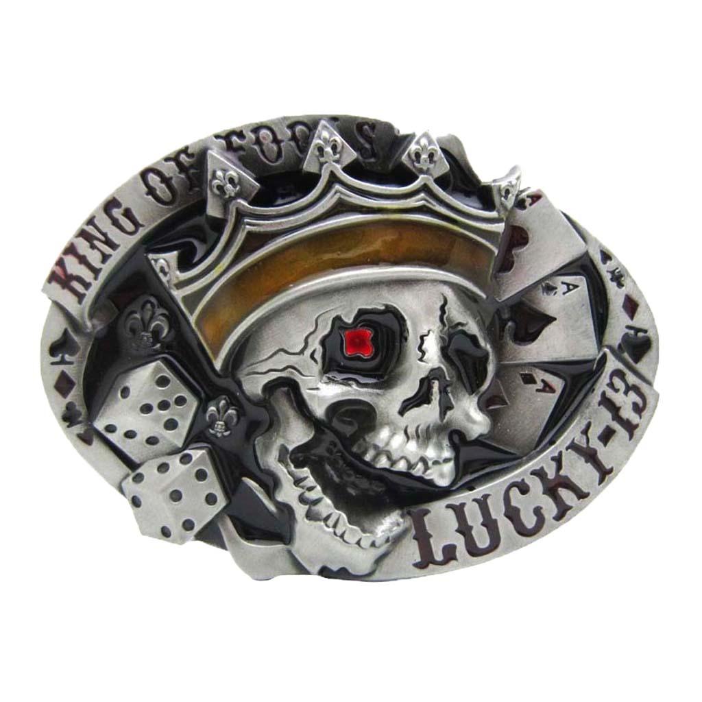 Vintage Skull Skeleton Oval Belt Buckle Western Belt Buckle Cool Jeans Accessories For Mens Gift Jeans Leather Belt