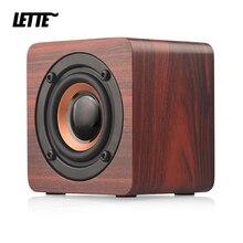 Mini haut parleur Bluetooth en bois 1200mAh haute puissance Subwoofer sans fil colonne de basse Portable