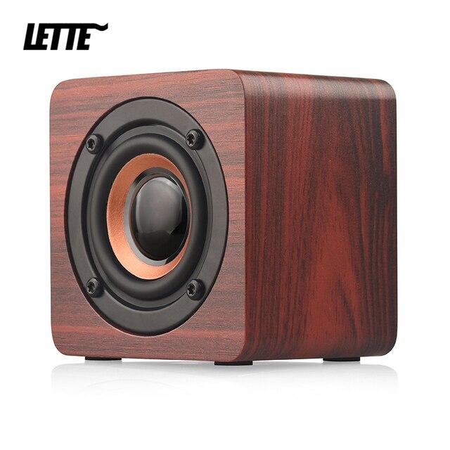 Wooden Bluetooth Mini Speaker 1200mAh High Power Wireless Subwoofer Portable Bass Column