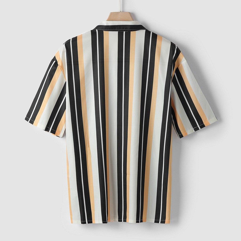 Men Shirts Mens Striped Shirt Short-Sleeve Shirts  4