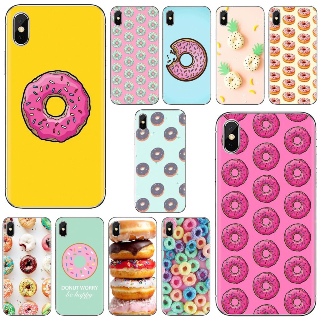 Doughnut doughnuts Cookies Sprinkle Soft Case Housing For Samsung Galaxy Note 3 4 5 8 9 S3 S4 S5 Mini S6 S7 Edge S8 S9 S10 Plus