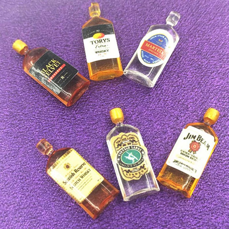 6pcs Mini Whiskey Model Mini Furniture Decoration Toy Doll House Decor New Arrival Special Offer