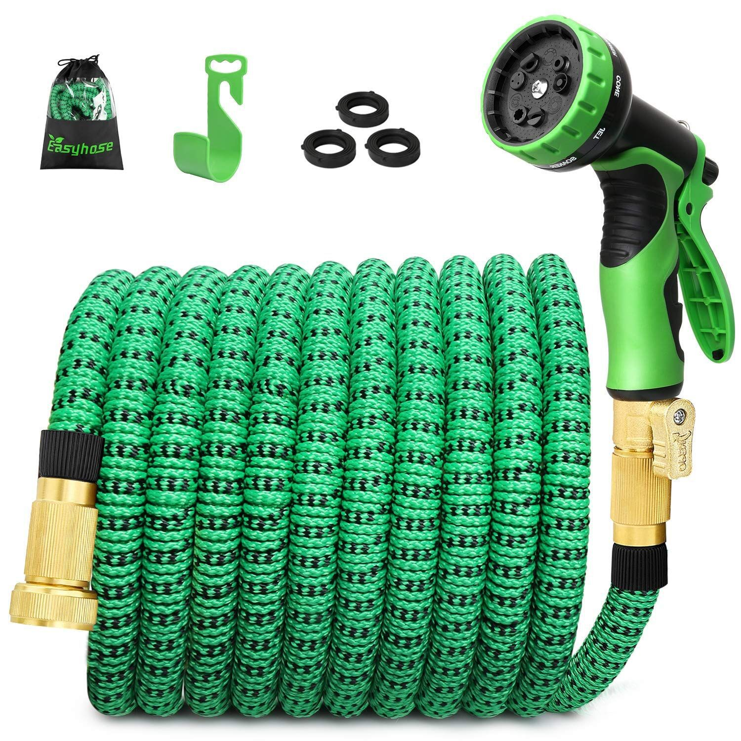 2019 Europe And America Version 25FT Three Times Telescopic Garden Hose Multi-functional Household Vehicle Cleaning Garden Hose