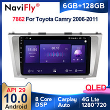 6G 128G QLED CarPlay Android 10 autoradio Audio lettore multimediale per Toyota Camry 6 40 50 2006-2011 navigazione GPS 2 din no dvd