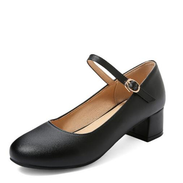 Nuevos zapatos de tacón alto para niñas, zapatos cómodos para fiesta de baile de princesas, zapatos de cuero para niños y niñas, zapatos de vestir para estudiantes 02C