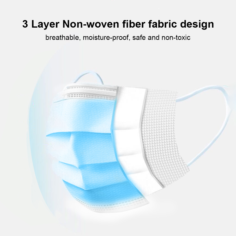 Image 5 - US CZ STOCK 24H Shipping 50 200 pcs Disposable respirator Face Mask Filter 3 ply Soft Breathable Protective mascarillas masquecondenser micmicrophone miniwired microphone -