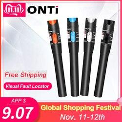 10mW Visual Fault Locator Fibra Óptica Cable Tester 5-30KM 30mw Luz Laser Vermelho Caneta Tipo Localizador Visual de Falhas SC/FC/ST