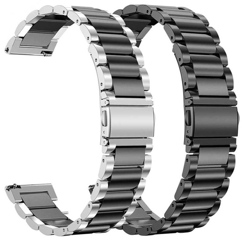 Stainless Steel Wrist Strap For Huawei Watch GT2 2 46MM 42MM Smart Watch Band Metal Bracelet For Samsung Galaxy Watch 46MM 42MM