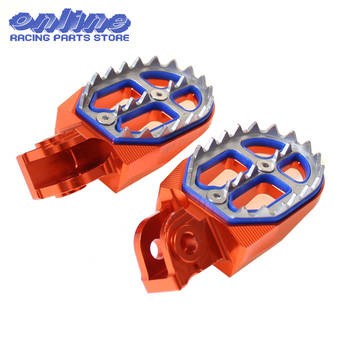 CNC Billet MX Foot Pegs Rests Pedals For 65 85125 250 300 450 525 KTM EXC SX SXF XCF SMR Motorcycle Motocross