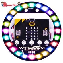 Высокая программируемая Плата расширения совместима с Arduino Голосовое управление Красочный светодиодный RGB свет-версия батареи