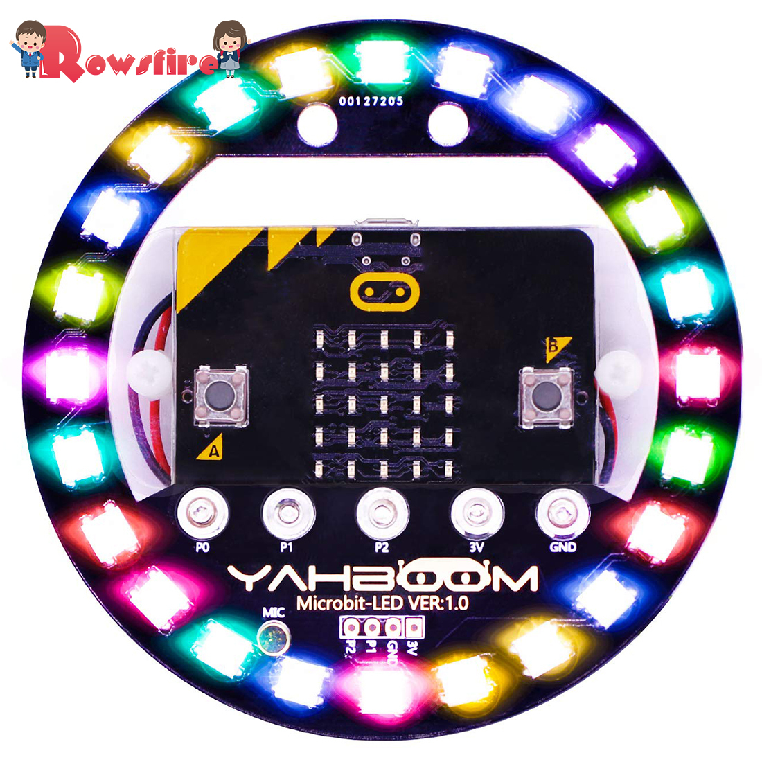 2019 High Programmable Expansion Board Compatible With Arduino Voice Control Colorful LED RGB Lights - Battery Version