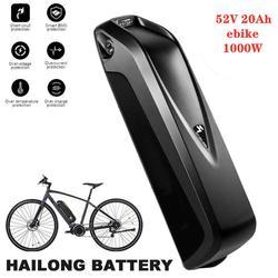 Batterie de vélo électrique 48V 20Ah Hailong 18650 cellules Pack 52V 20Ah 48V 20Ah batterie au Lithium de vélo puissant avec chargeur américain et européen