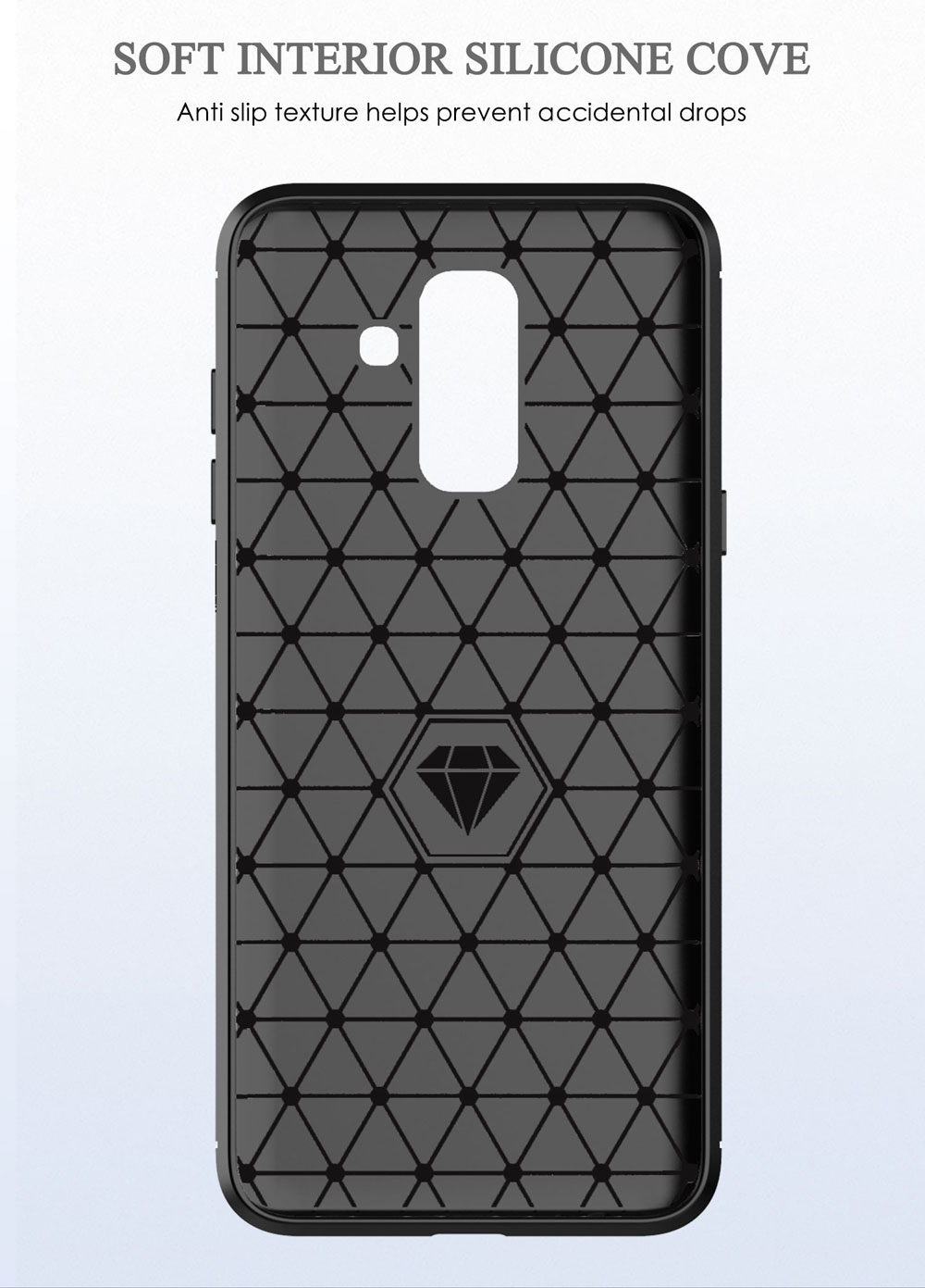 Image 3 - Carbon Soft Silicone Phone Case For Samsung Galaxy A6 Plus A6S 2018 Cover Bumper GalaxyA6 A6plus A62018 A6s2018 SM A600F A605F-in Half-wrapped Cases from Cellphones & Telecommunications