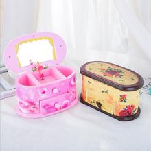 Dancing Ballerina Storage Jewelry Box Pink Music Boxes Cosme