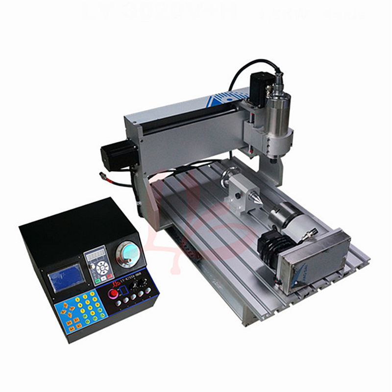 Industrial Engraving Machine CNC Router 3040 0.8KW / 1.5KW 4axis For DIY Working Metal Wood Acrylic