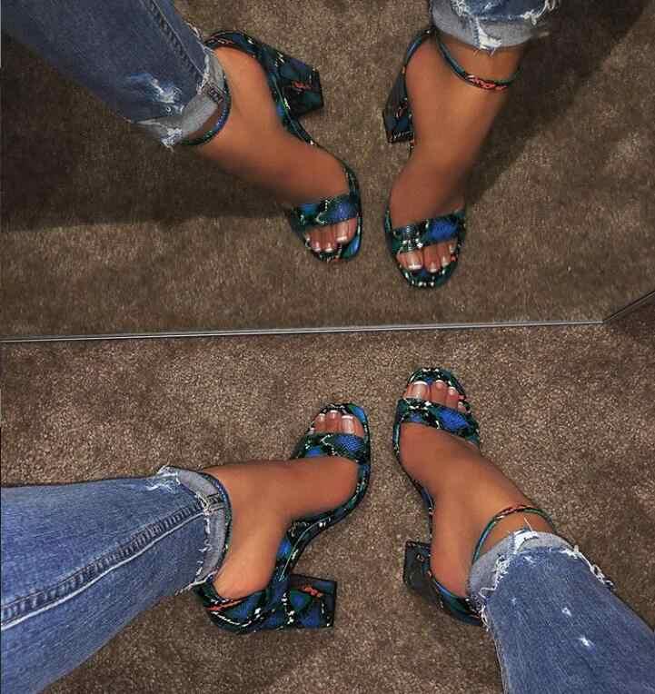 2019 été femmes peu profondes sandales sans lacet chaussures à talons hauts dames en plein air vacances pantoufle 9066