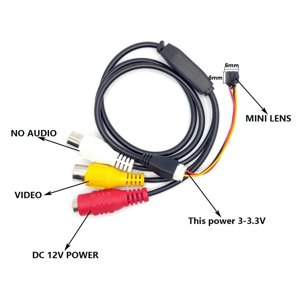 HD analog mini kamera diy cctv kamera modülü Ev Güvenlik mini cctv - Güvenlik ve Koruma - Fotoğraf 4