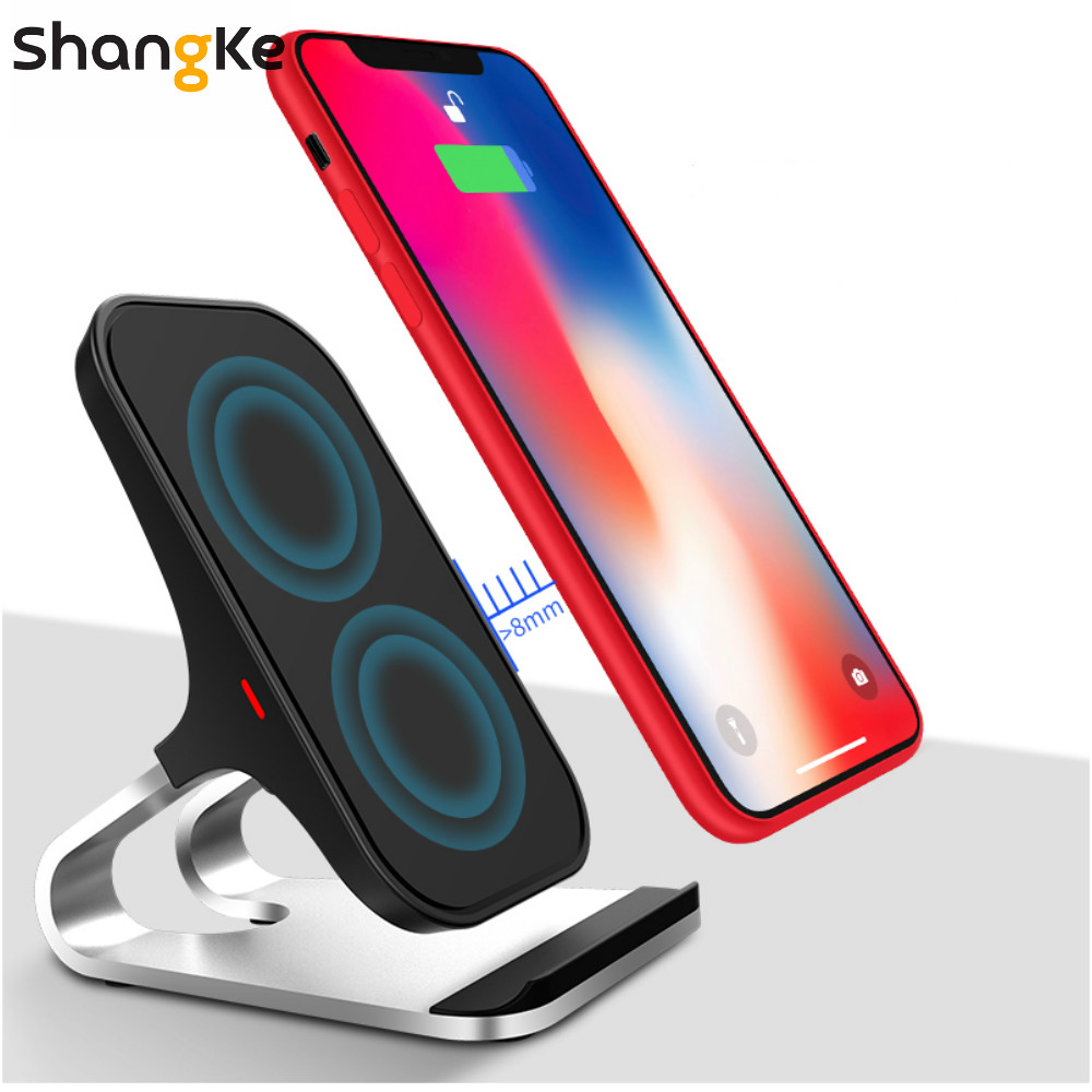 Qi Wireless Charger For iPhone 11 XS XR X 8Plus 10W Wireless Fast Charger Stand Phone Holder For SamsungS9 S8 S7 S6 Edge Note 8