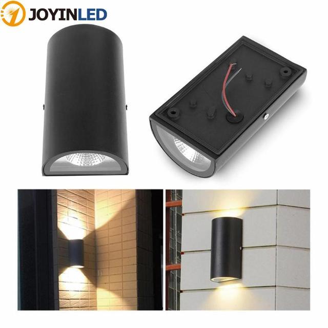 Современный простой настенный светильник наружная двухголовая настенная лампа 7 Вт AC 86-265 в IP65 водонепроницаемая садовая лампа уличная вилл...