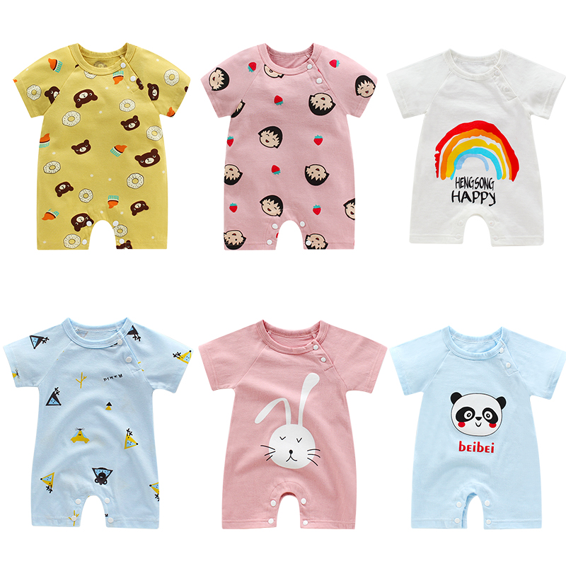 Toddler Baby Clothes Summer Short Sleeve Jumpsuit Boy&Girl Kids Baby Rompers Cotton Jumpsuit New Born Baby Clothes