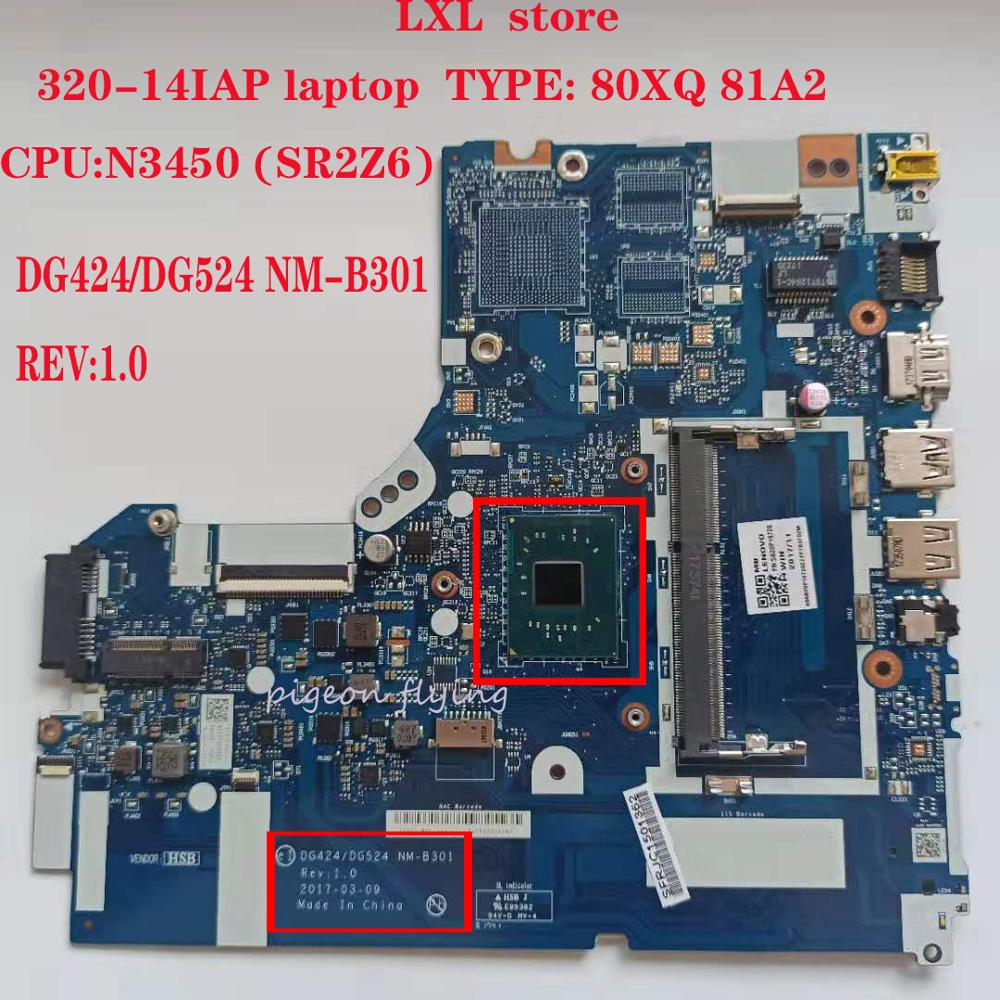 DG424/DG524 NM-B301 for <font><b>lenovo</b></font> <font><b>ideapad</b></font> laptop <font><b>320</b></font>-14IAP <font><b>motherboard</b></font> Mainboard 80XQ 81A2 CPU:N3450 UMA DDR3 PN: 5B20P19723 100%ok image