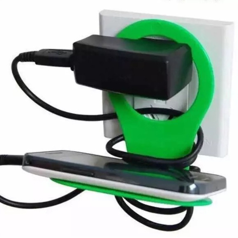 Folding Mobile Phone Wall Charger Adapter Charging Holder Hangs Charger Charging Rack For Phone Random Color Hook Stand Bracket