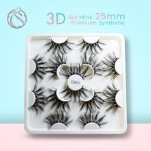 25mm Eyelashes Wholesale Mink Lashes 3d Faux  Natural False Fluffy Messy 70/140/210pairs