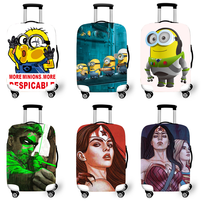 Elastic Luggage Protective Cover Case For Suitcase Protective Cover Trolley Cases Covers 3D Travel Accessories Minions Pattern T