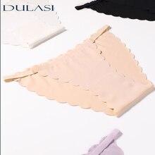 כותנה סקסית נשים של תחתונים גבירותיי קרח משי תחתונים נמוך מותניים גדול גודל חלקה הלבשה תחתונה לנשימה תחתוני DULASI 3 יח\חבילה