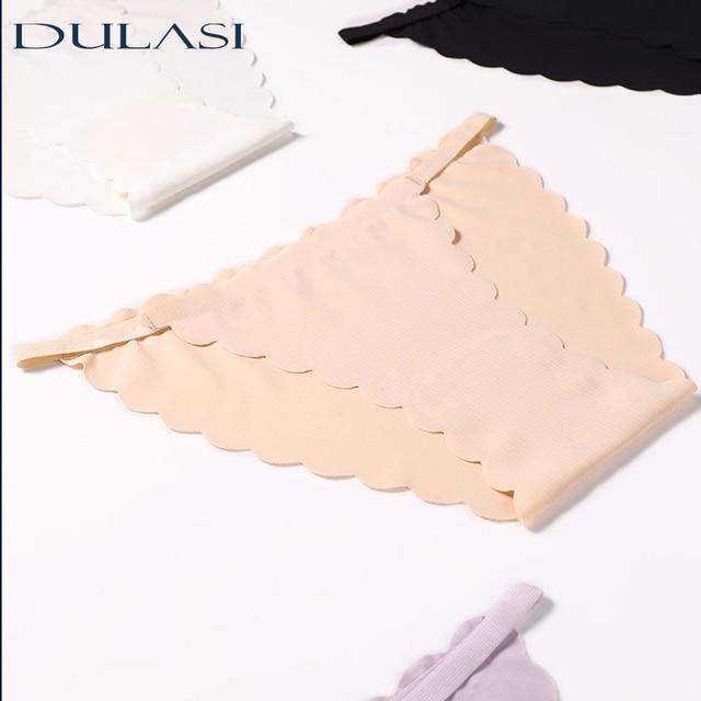 Bragas de algodón para mujer, ropa interior Sexy de seda helada, calzoncillos de cintura baja de talla grande, lencería sin costuras, transpirable, DULASI, 3 uds. Por lote