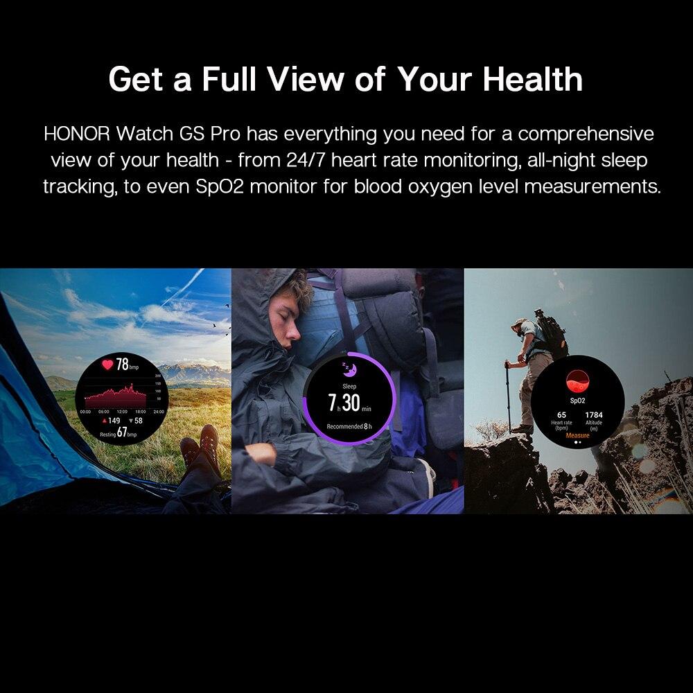 Смарт-часы Honor Watch GS Pro глобальная версия с экраном 1,39 дюйма и Пульсометром-5