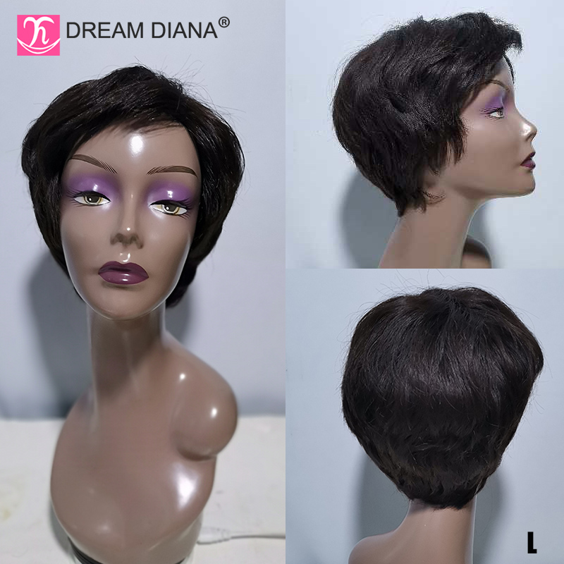 DreamDiana Ombre Short Cut Lace Front Wigs P1B/27 150 Bob Straight Wig Lace Front Density Glueless 6