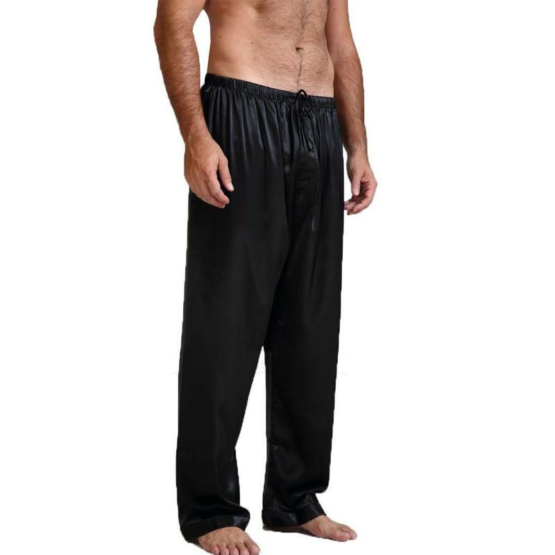 Mens Silk Satin Pajamas Pyjamas Pants Lounge Pants Sleep Bottoms Size S-XL Plus