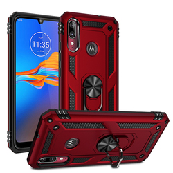 На Алиэкспресс купить чехол для смартфона for motorola e6 plus case magnetic ring with holder armor shockproof case for moto e6 hybrid hard pc tpu silicone back fundas