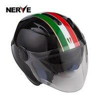 Mountain Off road Glass Fiber Motorcycle Helmet Half Helmet Safe Double Lens Winter Warm Locomotive Motorcycle Helmet Men And Wo|  -