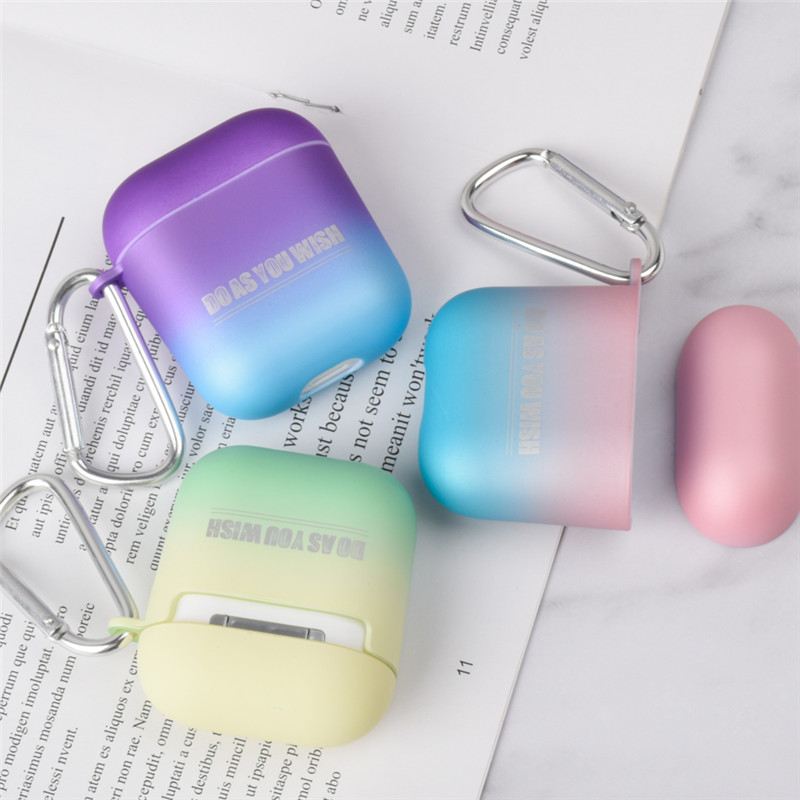 OTTWN Hard Silicone Case for Change in Color simplicity For <font><b>Apple</b></font> <font><b>Airpods</b></font> Shockproof Cover for <font><b>Apple</b></font> <font><b>AirPods</b></font> Protector Case image