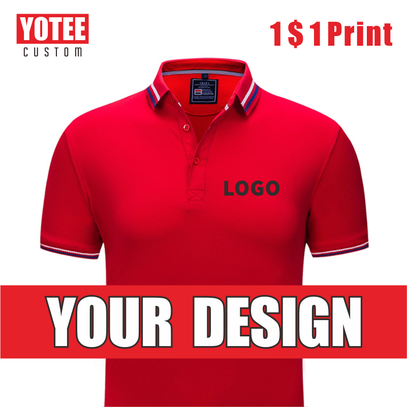 YOTEE2020 Casual Business High Quality Individual Company Group Logo Custom POLO Shirt Men And Women Custom Top