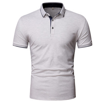 Koszulka polo męska jednokolorowa biznesowa koszulka polo z krótkim rękawem męska przytulna marka jakości męska koszulka polo tanie i dobre opinie TJWLKJ CN (pochodzenie) REGULAR Na co dzień NONE Patchwork COTTON Oddychające Stałe H205