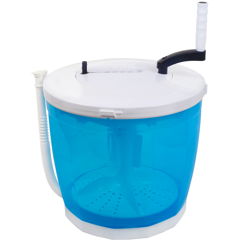 5 Minutes Hand-operated Washing Machine Dormitory Mini Portable Washer and Dryer Machine Vegetable Fruits Camping Travel Use image