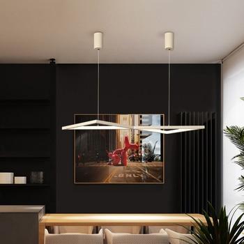 white/black Led Chandelier lighting for diningroom kitchen lustre led luminaire suspendu Hanging installation modern chandelier