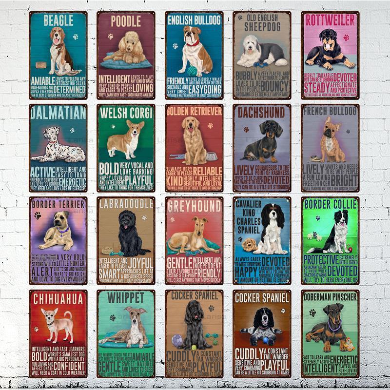 С изображением животных: котов и собак; Винтажный металлический постер домашний Декор Ретро жестяной знак для бара клуб Pet Shop декоративная т...