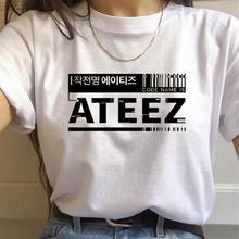 Mehrere K pop Schwarz Rosa Ateez T shirt Frauen T-shirt Kpop Junge NCT127 Casual Harajuku Grafik Kurzarm T-shirts t-shirt frauen
