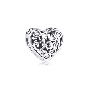 Image 2 - Fits Pandora Bracelet 925 Sterling Silver Mother & Son Bond Charm Silver Beads for Jewelry Making Party Gift for Women kralen