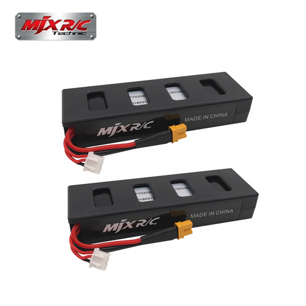 Original 7.4v 1800mah 25C Li-poly Battery For MJX  B3 Bugs 3 RC Quadcopter Drone Spare Parts Accessories 2pcs For MJX R/C Bugs 3