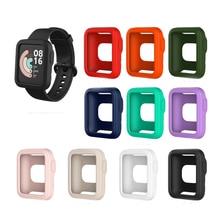 Smartwatch tpu soft edge protector case shell frame protective bumper cover para xiaomi mi watch lite/redmi smart watch