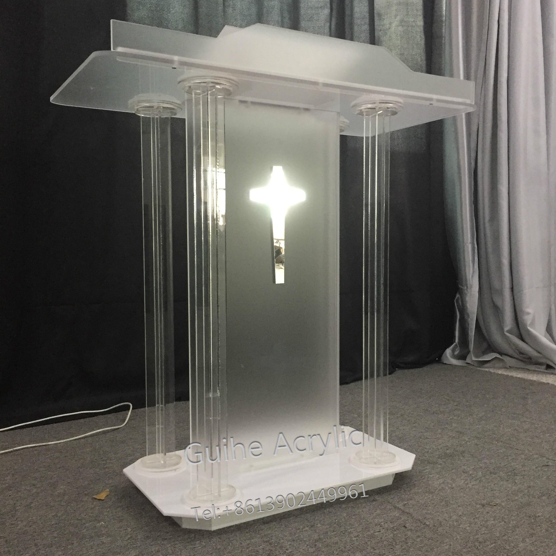 GUIHEYUN Speech Church Podium Acrylic Lectern Pulpit Event Wedding Prayer Plexiglass