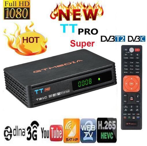 Récepteur de télévision terrestre GTMEDIA TT PRO DVB-T2/T récepteur de Tuner de télévision numérique HD récepteur MPEG4 DVB T2 H.265 DVB-C