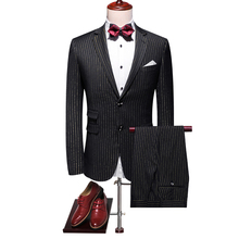 plus size 5xl gold stirped print mens wedding suit styles 2019 autumn designer suits for men  classic